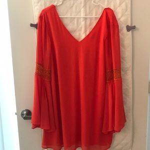 Orange boho dress